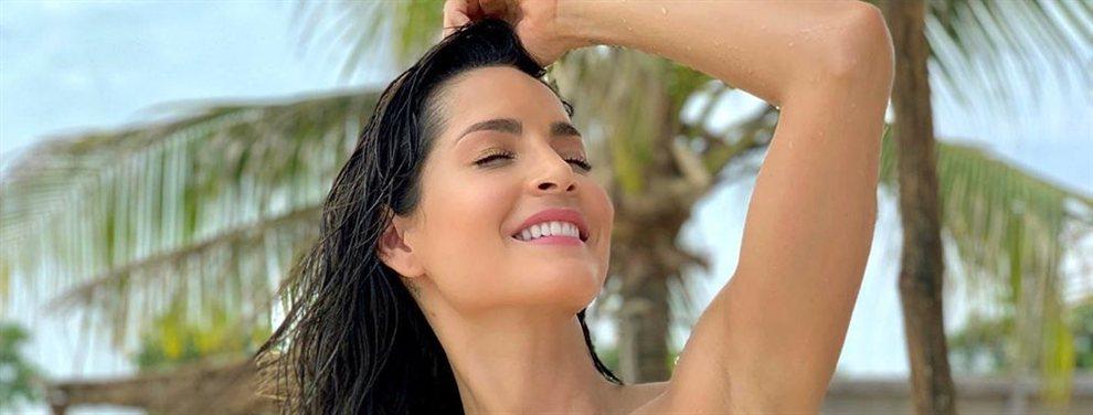 El marido de Carmen Villalobos se pasa con el uso del Photoshop en su última publicación.