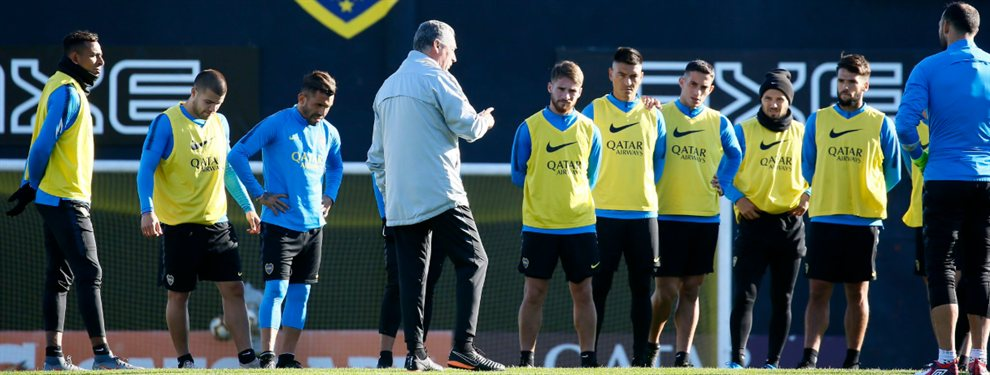 En el último entrenamiento de Boca, Gustavo Alfaro incluyó a Nicolás Capaldo en el equipo en lugar de Sebastián Villa.