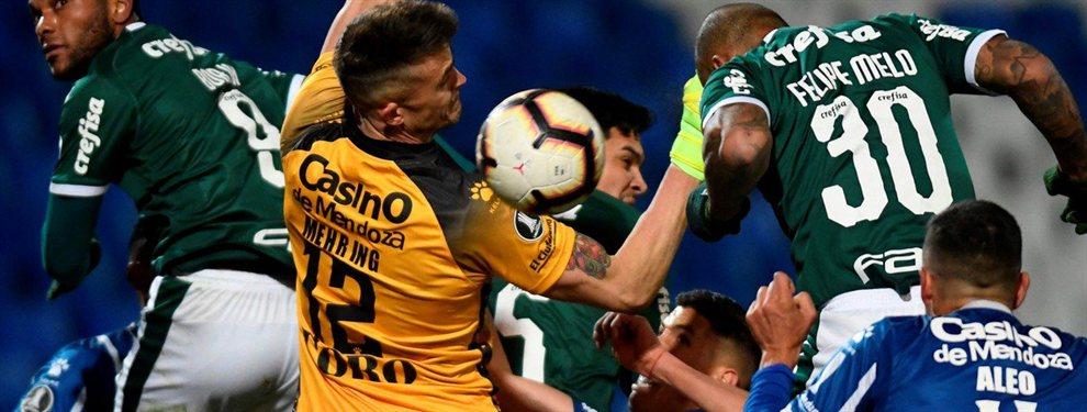 Godoy Cruz desperdició los dos goles de ventaja en el marcador y terminó empatando con el Palmeiras.