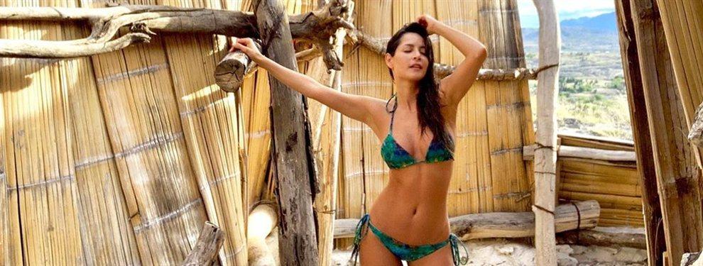 La actriz Carmen Villalobos se marca un bailiecito más apropiado de Shakira que de la modelo.