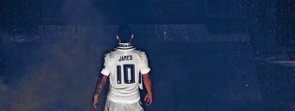 """Jorge Mendes cierra el trato del verano, James ya tiene destino """"¡por fin!"""": se acaban las hipótesis y el jugador queda satisfecho"""