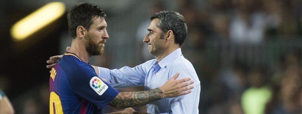 Leo Messi tiene cruzado a Ousmane Dembélé y ha exigido su salida del Barça este verano