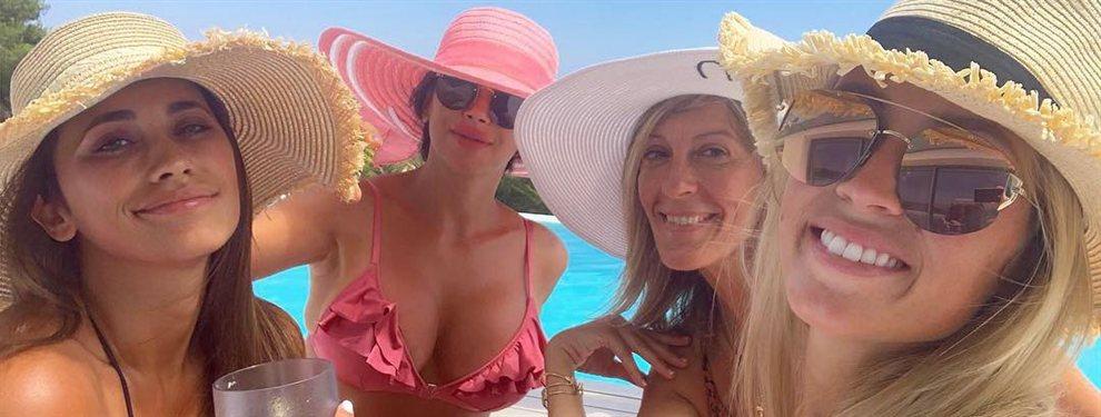 ¡¡¡Pillada!!!. ¡Las novias de los jugadores del Barça de copas, subidas de tono de fiesta en Ibiza y entonadas!: ¡¡¿¿Daniella Semaan, qué haces??!!
