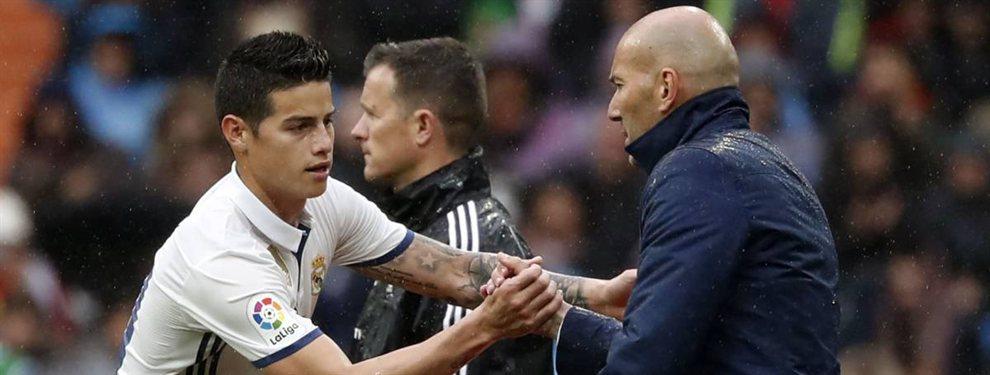 En las últimas horas se ha filtrado el porqué Zinedine Zidane no puede ni ver a James Rodríguez