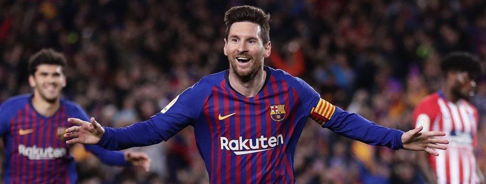 Leo Messi no acaba de entender el porque tanto esfuerzo para fichar a Junior Firpo, que será suplente