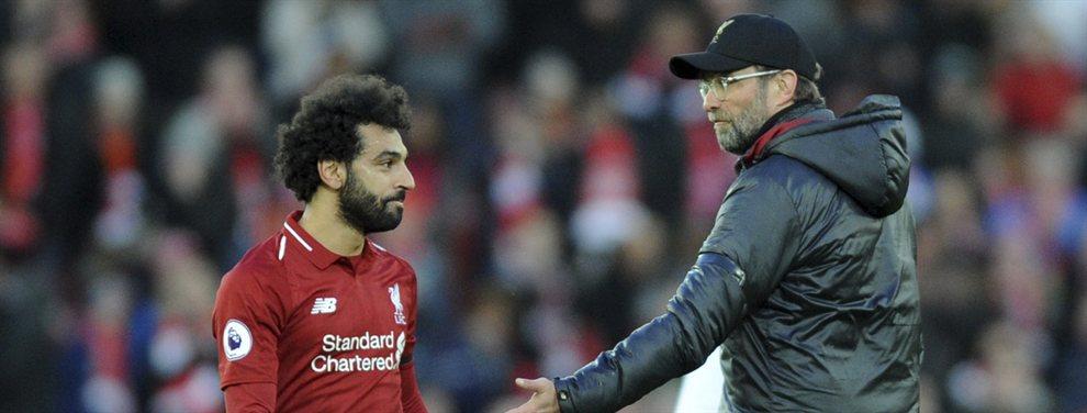 Mohamed Salah y Jürgen Klopp mantuvieron una acalorada discusión por culpa de Zidane