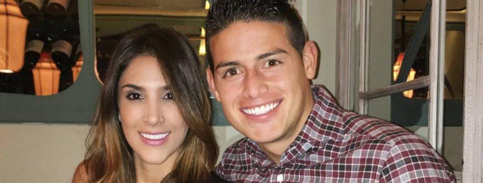 Daniela Ospina colgó una imagen junto a su padre fallecido y James Rodríguez le dio 'like'