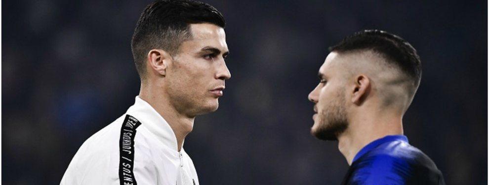 Cristiano Ronaldo habría aprobado la incorporación de Mauro Icardi a la Juventus.