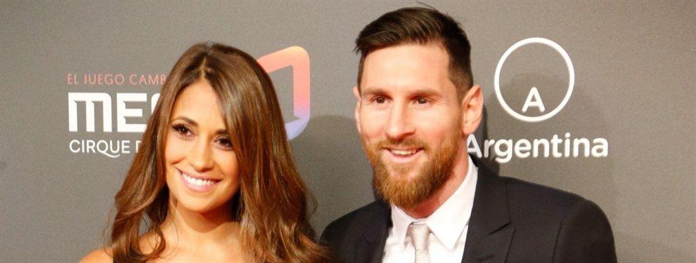Antonella Roccuzzo y Leo Messi fueron filmados en una discoteca mientras se tocan muy románticamente