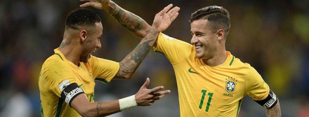 Philippe Coutinho no formará parte de la operación Neymar, y su lugar lo ocupará Umtiti