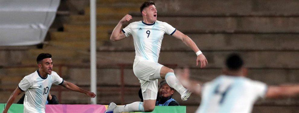 Adolfo Gaich, goleador de la Sub 20 de la Selección Argentina, es pretendido por la Lazio de Italia.