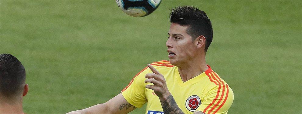 James Rodríguez está muy enfadado con Florentino Pérez por tratar de incluirle en la operación por Neymar