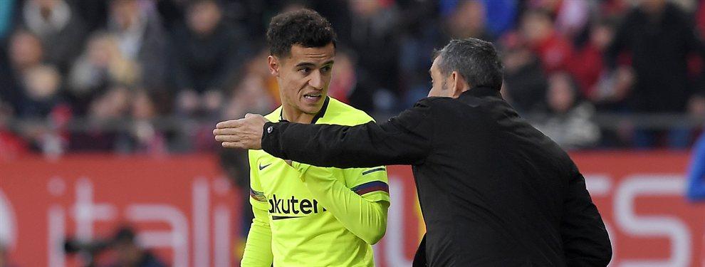 Ernesto Valverde ha pedido la marcha de Rafinha Alcántara al Inter, y le acompañaría Coutinho