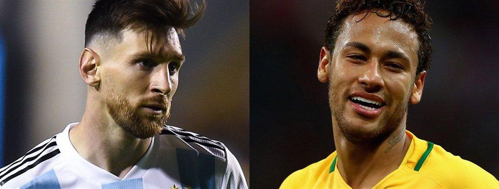 Leo Messi y Neymar Junior han mantenido una conversación privada con un 'top secret'