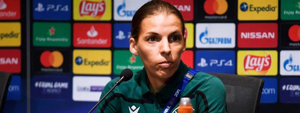 Stéphanie Frappart será la primera mujer en arbitrar una final masculina organizada por la UEFA.