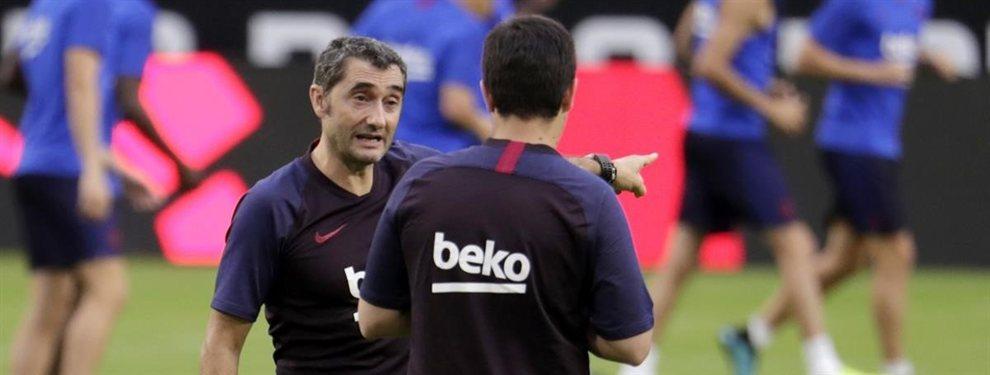 Juan Miranda tiene pie y medio en el Olympique de Marsella, y se va muy enfadado con el Barça y con Valverde