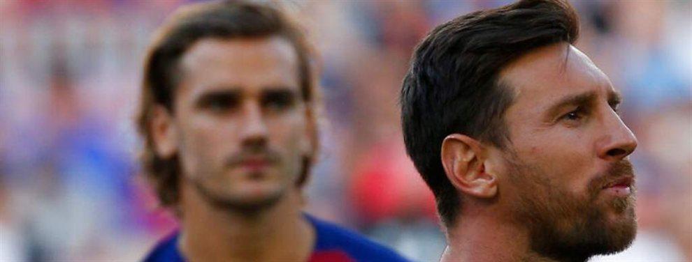 Leo Messi respondió a Antoine Griezmann acudiendo a entrenar el fin de semana con el Barça