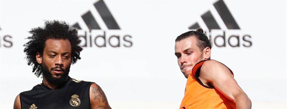 Marcelo se ríe porque sabe que la decisión de Zidane hace que vuelva a tener un año tranquilo en el Madrid