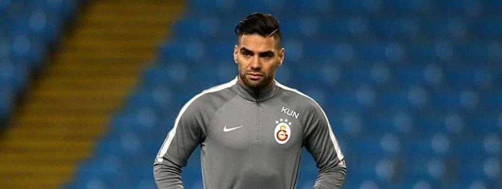 Un grande de España paraliza el fichaje de Falcao por el Galatasaray: necesitan otro punta con experiencia en Europa, y el colombiano es perfecto