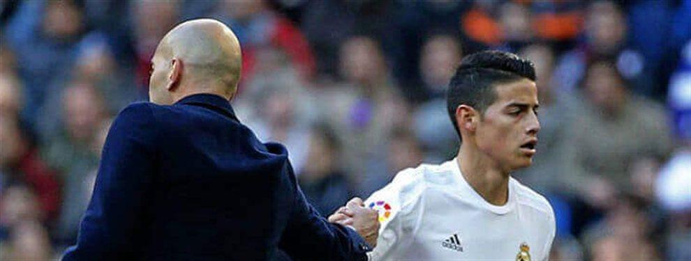Florentino vio como una oportunidad para poner en el mercado a James después del buen partido del otro día