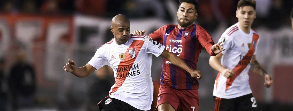 Nicolás De La Cruz fue detenido por la policía de Paraguay antes del partido de River ante Cerro Porteño