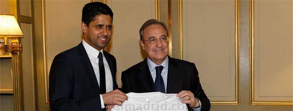 ¡El PSG cumple con Florentino Pérez y rechaza la oferta del Barça por Neymar!: pacto secreto entre el presidente blanco y el jeque que dinamita a Bartomeu