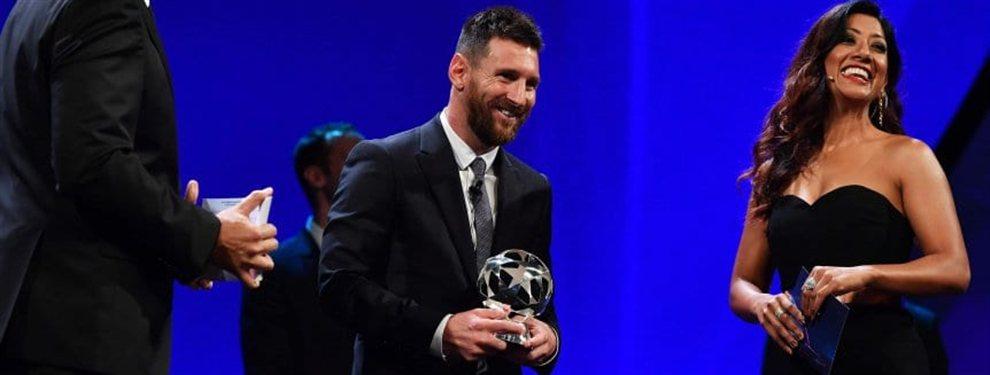 Lionel Messi fue galardonado como el mejor delantero de la Champions League 2018/2019.