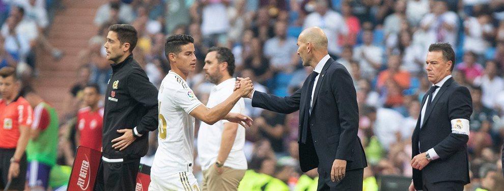 ¡Florentino Pérez y 'Zizou', de acuerdo!, ¡James Rodríguez, hasta enero!: confían en su revalorización y la de Gareth Bale como baza del futuro