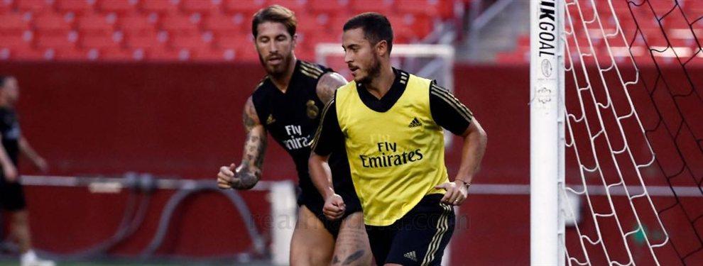 Zinedine Zidane y Sergio Ramos indignados con Eden Hazard: el belga no ha empezado con buen pie en el Real Madrid y ya tiene detractores ¡por esto!