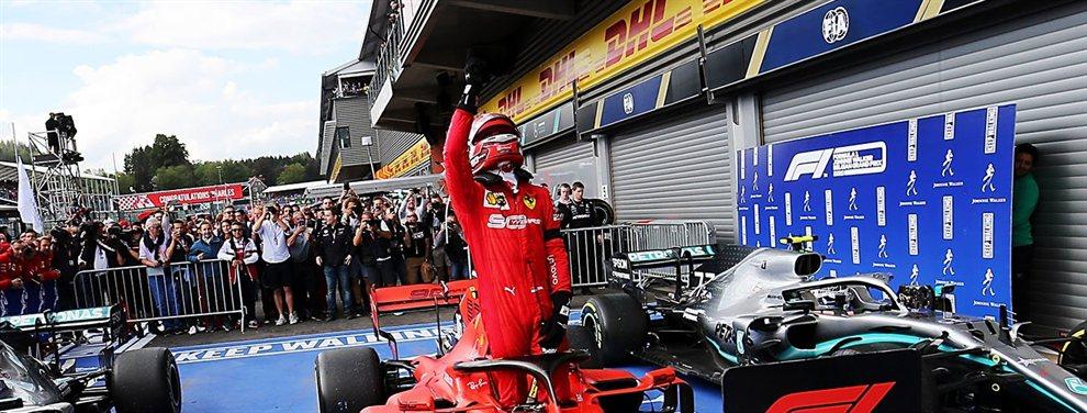 El británico uso la ironía para alabar a Charles Leclerc pero a la vez humillar a Sebastian Vettel