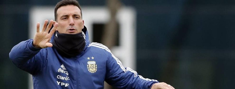 Lionel Scaloni ensayó con un equipo de cara al primer amistoso de la gira de amistosos de la Selección Argentina.