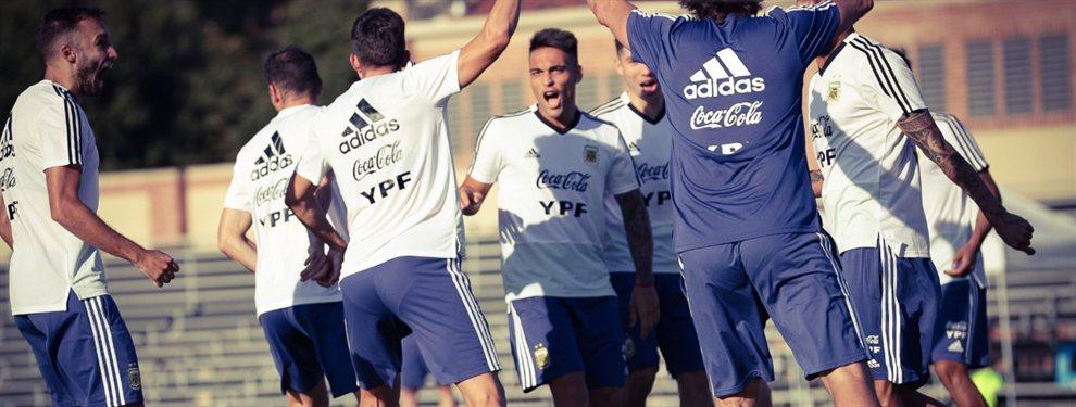 Lionel Scaloni ensayó con dos equipos en el último entrenamiento de la Selección Argentina,