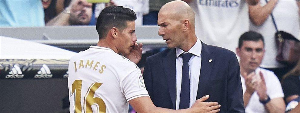 Zinedine Zidane parece que ha perdonado a James Rodríguez. El técnico del Real Madrid tenía una cruzada contra el mediapunta colombiano por su actitud.