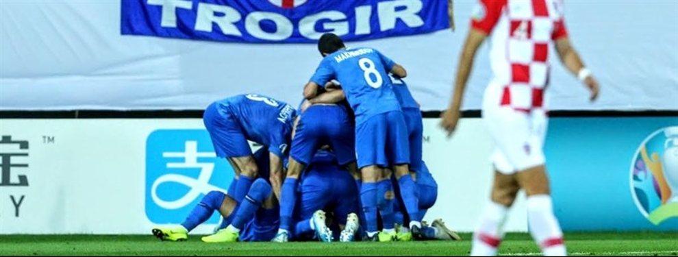 Croacia, subcampeona del Mundial de Rusia 2018, empató de manera sorpresiva ante Azerbaiyán.