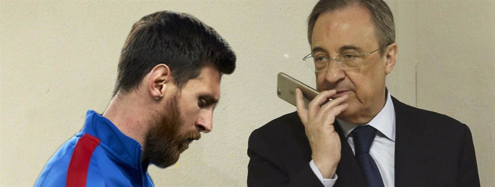 Florentino Pérez podría quedarse sin Kylian Mbappé, al que el Barça pretende como heredero de Messi