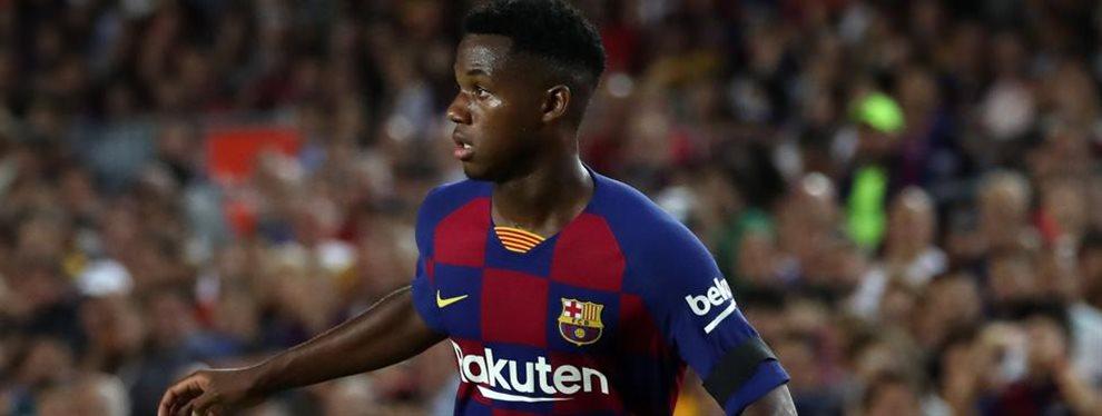 ¡Bombazo en marcha! Robert Moreno quiere que Ansu Fati juegue con España. El punta del Barça de 16 años, nacido en Guinea-Bissau, ha asombrado a Europa
