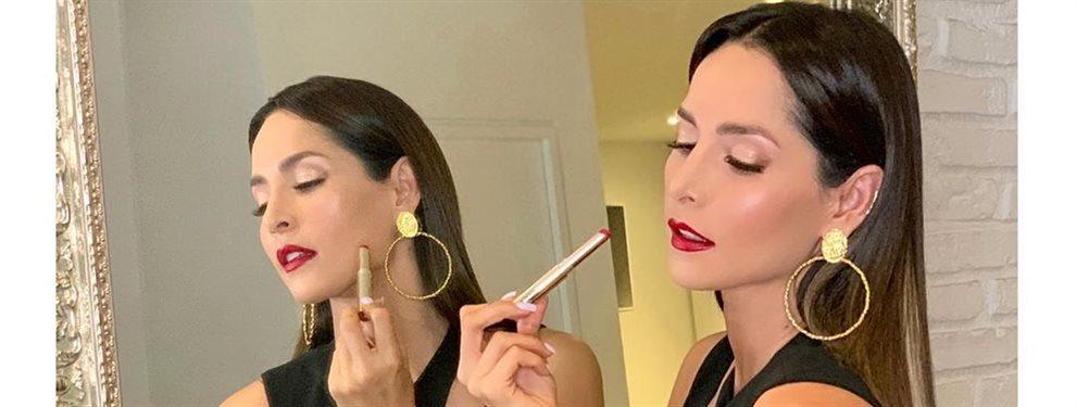 Carmen Villalobos prepara su próximo enlace buscando la suerte con su color fetiche, el rojo.