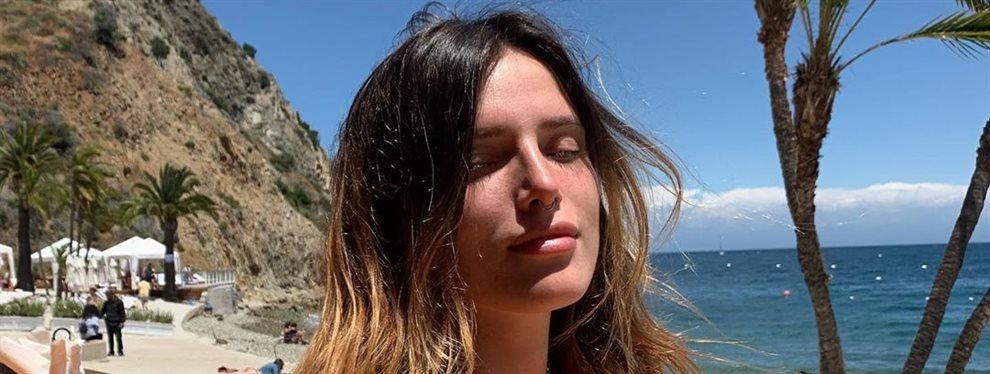 La actriz Bella Thorne se sumerge en las aguas del mar antes de iniciar su próxima aventura laboral.