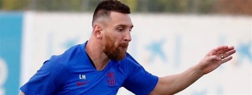 ¡Pillado in fraganti! Messi con el teléfono hablando con otro club:El vestuario del Barça estalla al conocer el nuevo destino
