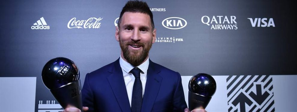 Lionel Messi recibió el premio The Best al mejor futbolista del mundo de la temporada pasada.
