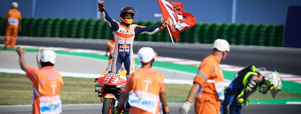 ¿Y si Marc Márquez no tiene límites? Valentino Rossi lo sabe. Camino de su cuarto título consecutivo, va a por este récord de Giacomo Agostini