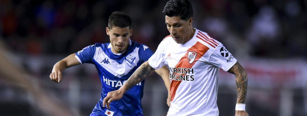 Enzo Pérez entró a la par de sus compañeros y podrá jugar la semifinal de ida ante Boca.