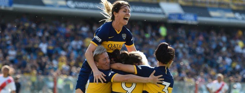 Boca venció 5-0 a River en el primer Superclásico profesional femenino jugado en La Bombonera.