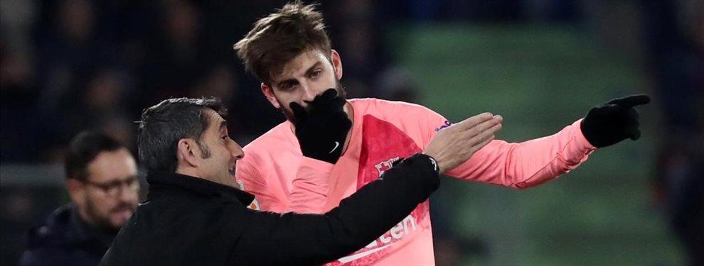 Gerard Piqué acusó a Ernesto Valverde de las lesiones del equipo en este comienzo de temporada