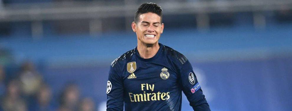 El Real Madrid pretende incluir a James Rodríguez en su oferta al Napoli por Fabián Ruiz