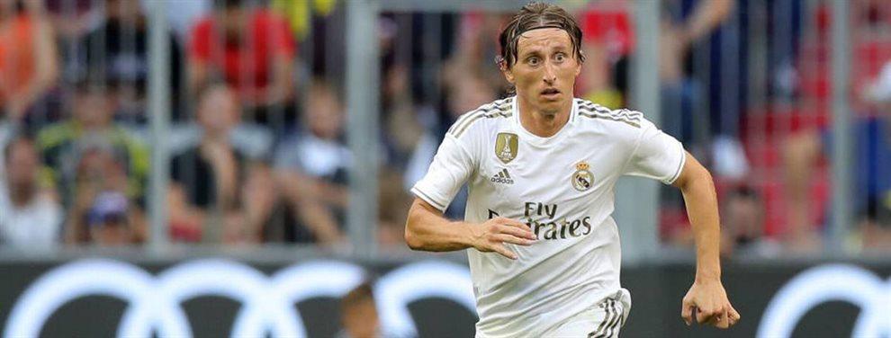 Luka Modric y Florentino Pérez se las tuvieron tiesas y Zinedine Zidane tuvo que intervenir