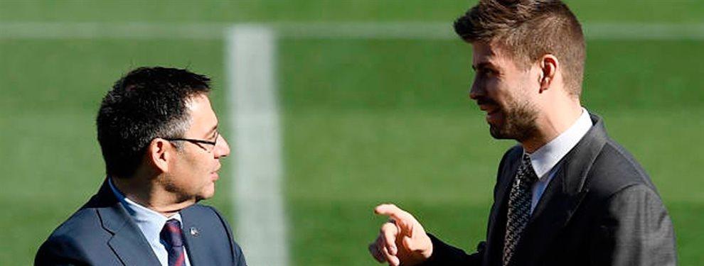 ¡Vaya bronca! ¡Gerard Piqué y Josep Maria Bartomeu se dicen de todo!. El Barça es un polvorín y vuelan los reproches entre jugadores y directiva