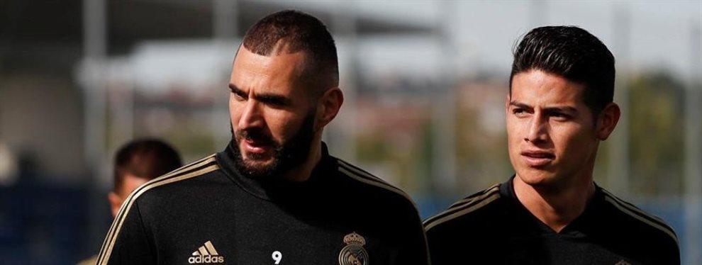 Zinedine Zidane apremia James Rodríguez: ¡fuera de la lista y ojo a esto!. La titularidad del colombiano de ahora en adelante está sujeta a una condición