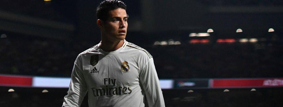 El Madrid lo cierra para 2020: James Rodríguez más 30 'kilos'. Tienen un acuerdo, las dos partes salen ganado y se la juegan al Barça