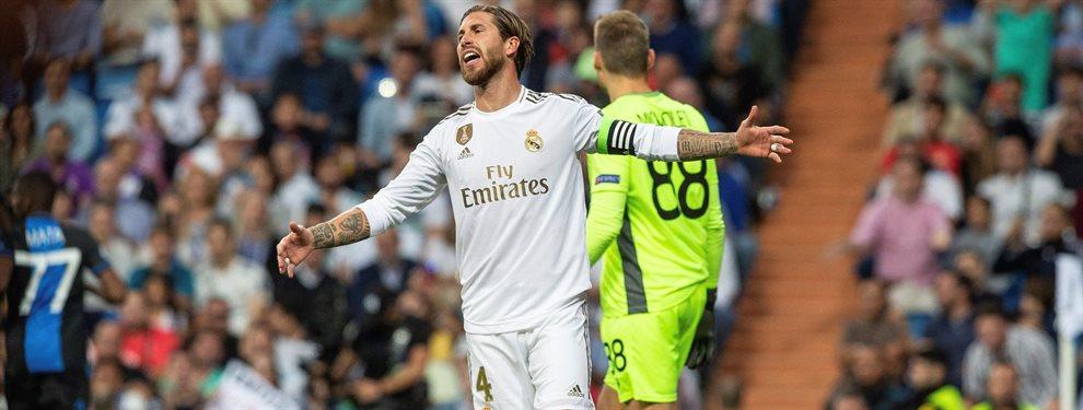 Sergio Ramos salió muy enfadado del campo tras el empate del Real Madrid y explotó en el vestuario